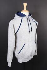 New listing Vtg Bassett Walker Heather Gray/Blue Hoodie Sweatshirt Ds Nwots Usa Size Medium