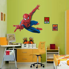 3D Superhero Spiderman Mural Wall Decal Sticker Kids Nursery Room Decor DIY