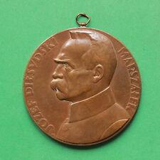 1930 Poland Jozef Pilsudski 55mm Medal by Jozef Aumiller SNo42892