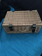 SMALL Wicker Hamper Picnic Basket Home Storage Retro Camping box