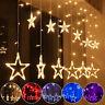 138 LED Lichterkette Sterne Lichtervorhang Weihnachten Fenster Beleuchtung Dekor