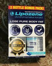 Lipozene Pack of 2 Bottles 60 Capsules Maximum Strength 1500mg Weight Loss