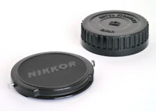NIKON NIKKOR 52mm FRONT AND NIPPON KOGAKU F MOUNT REAR CAPS! - VERY RARE!