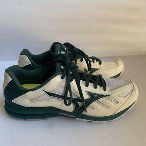 Mizuno Synchro MX Men's Running Baseball Training Shoes Size 14 Green White