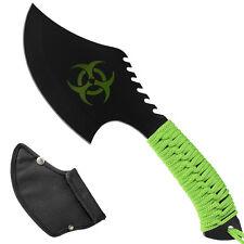 Bonitos zomie hacha verde flúor survival Paracord cuerda outdoor hacha machete cuchillo