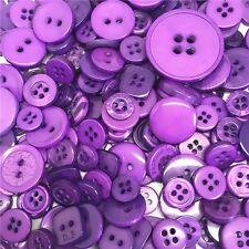 Jesse James Buttons ~ Dress It Up 1,000+  PURPLE MIX ROUND SEWING BUTTONS CRAFTS