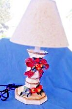 "Adorable Christmas Lamp With Bows, Berries And Leaves, 17 1/2"" Tall With Shade"