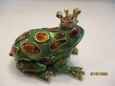 "New ListingMonet ""Frog Prince� Keepsake Trinket Box"