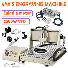 Usb 5axis Cnc6040 Router Engraving Machine Metal Milling Cutting 15kwhandwheel