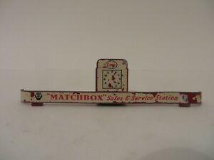 Matchbox Lesney Vintage Esso Garage Set Diecast Service Station Roof Esso Banner