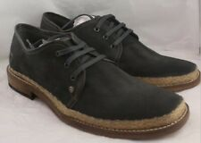 Mens Feud Grey Suede Lace Up Casual Shoes Size UK 8 *Ex-Display