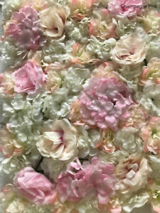 10xChampagne pink Wedding Flower Wall Backdrop Panels for Sale 60cmx40cm