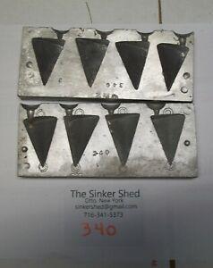 Sweet molds Pyramid sinker Mold #340- 4 oz  - FREE SHIPPING