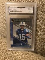 Parris Campbell Rookie Phenoms Jersey 2019 Donruss Graded 9 Colts