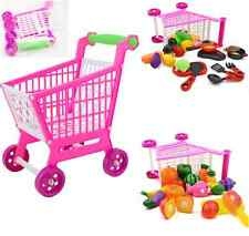 Mini  11.8'' Shopping Cart Full Grocery Food Toy Playset for Kids Toys Pretend A