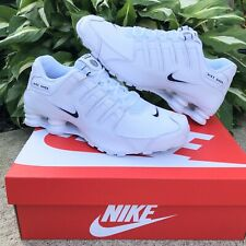 NEW Nike Shox NZ EU Casual Shoes Men's Size 9 White Leather 501524 106