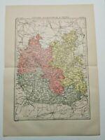 Vintage 1894 OXFORE & ENVIRONS Atlas Map Antique Encyclopedia Britannica