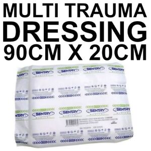 MULTI TRAUMA UNIVERSAL DRESSING 20cm X 90cm LARGE COMBINE FIRST AID