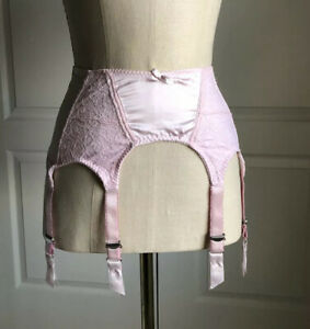 6 Strap Garter Belt Size Small Pink W/ Metal Garters By Secrets In Lace