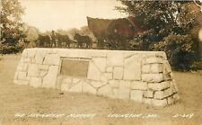 Lexington Missouri~Old Freighter's Marker~Sepia Real Photo Postcard 1944