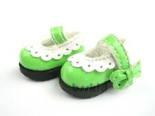 R01 Blythe Lati Yellow 1/12 Doll Shoes Green Ribbon Colorful