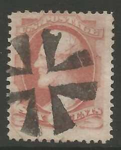 STAMPS-UNITED STATES. 1873. 6c Dull Rose. SG: 161/Scott 159. Fine Used