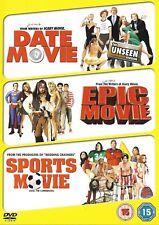 Date Movie/ Epic Movie/ Sports Movie (DVD, 2009, 3-Disc Set)  ~~