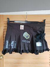 "Criminal damage Grey Pleated Mini Skirt Vintage Size S 26"" Steampunk emo rock"