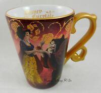 New Disney Store D23 Designer Fairytale Snow White & Old Witch Ceramic Mug Cup