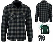Bikers Gear Kevlar® Lined Flannel Lumberjack Motorcycle Shirt Dark Grey Flanny