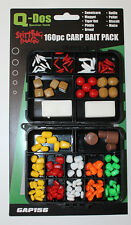 Q-Dos Large 160pc Artificial Carp Baits Specimen Selection in Compartment Box