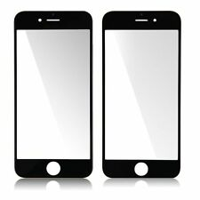 "New 4.7"" Black Front Glass Lens Outer Screen Cover Replacement  For iPhone 6 6G"