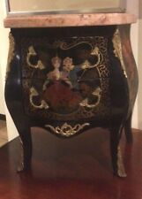 Small French  Louis XV Gilt Bronze Mounted,Hand Painted Marble Top Commode