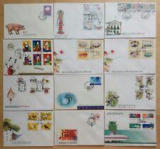 1995 Macau Complete Set Stamp 12 FDC minor tone spots 澳门一九九五年发行全套共12个邮票首日封(轻微斑点)