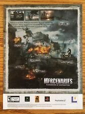 Mercenaries: Playground of Destruction PS2 Playstation 2 Xbox Game Poster Ad Art