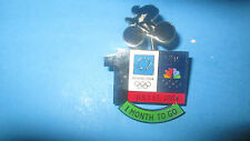 ATHENS 2004 SUMMER OLYMPICS/NBC LOGO -1 MONTH TO GO CYCLING PIN