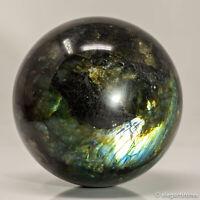 1084g 91mm Large Natural Labradorite Quartz Crystal Sphere Healing Ball Chakra