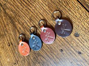 Dragonfly key ring/Leather dragonfly keyring/luxury keyring/keather keyring