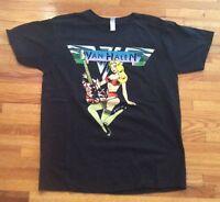 Vintage RARE 2009 Van Halen Rokc Band Concert Black T Shirt World Tour !