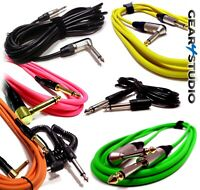 Electric Guitar Lead Cable Bass/Electric/Acoustic/Instrument to Amp 3M 5M 6M