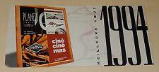 CARTE de VOEUX 1994 : PLANETE CABLE - ciné ciné mas - Canal Jimmy - Ciné CINEFIL