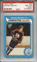 1979 Topps Hockey #18 Wayne Gretzky Rookie Card RC Graded PSA NM Mint 8 (OC) '79