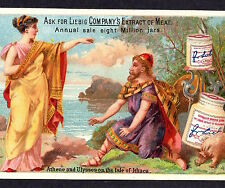 LIEBIG S # 0166 Goddess Athene Ulysses Ithaca USA English/ 1886 Advertising Card