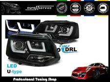 HEADLIGHTS LPVWL2 VW TRANSPORTER T5 2010 2011 2012 2013 2014 2015 BLACK RHT