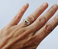 925 STERLING SILVER HEART RING size L, M, M1/2 or O