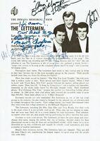 The Lettermen Program Indiana University 1969 SIGNED AUTGRAPHED