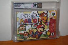 Paper Mario (Nintendo 64 N64) NEW SEALED OVERLAP SEAM, GEM MINT GOLD VGA 90+!