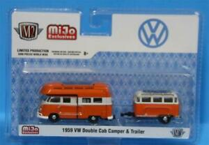 M2 Machines MiJo - 1959 Volkswagen Double Cab Camper & Trailer Limited