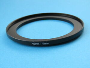 62mm to 77mm Step Up Step-Up Ring Camera Filter Adapter Ring 62-77mm