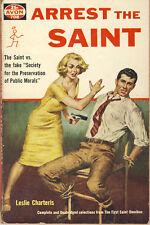 Leslie Charteris ARREST THE SAINT Avon pbk 708 Stories from First Saint Omnibus